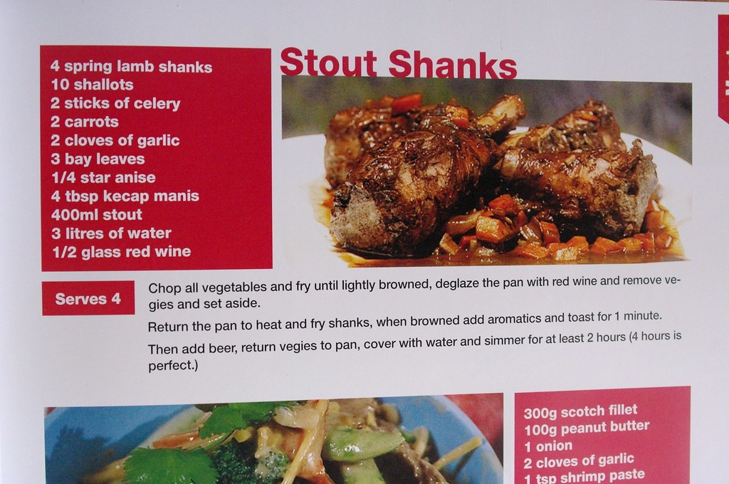 Stout Shanks recipe in Alive and Cooking Cookbook