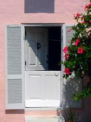 Welcome Home (amy's pixels) Tags: door pink house paint pastel unesco worldheritagesite shutters bermuda