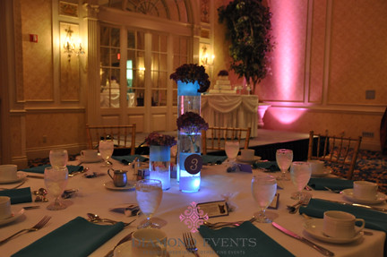 Floral Centerpieces for a wedding in the Hotel Roanoke Crystal Ballroom