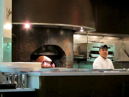 pizza oven at spago