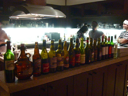 Leftover bottles @ Wolvesmouth Dinner
