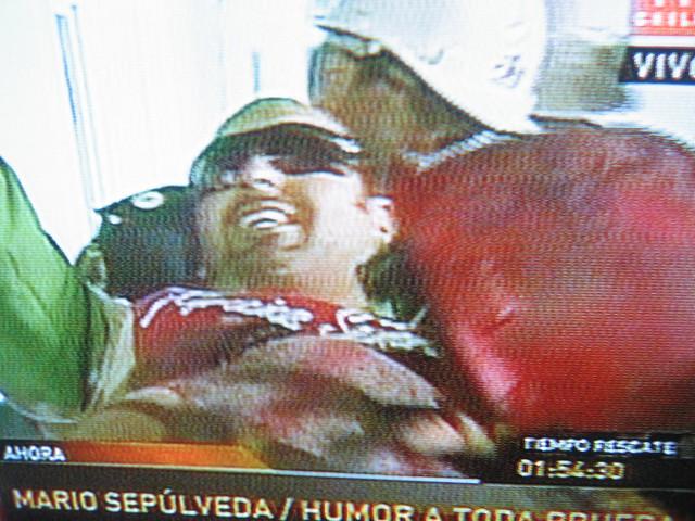 Foto Rescate de Mario Sepúlveda rescatado
