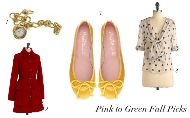 Pink to Green Fall Picks