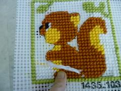 Esquilo em talagarça