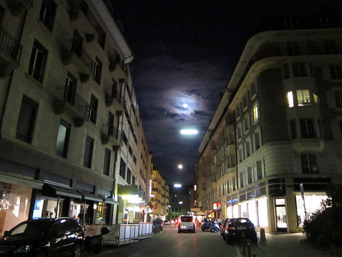 Harvest Moon over Geneva