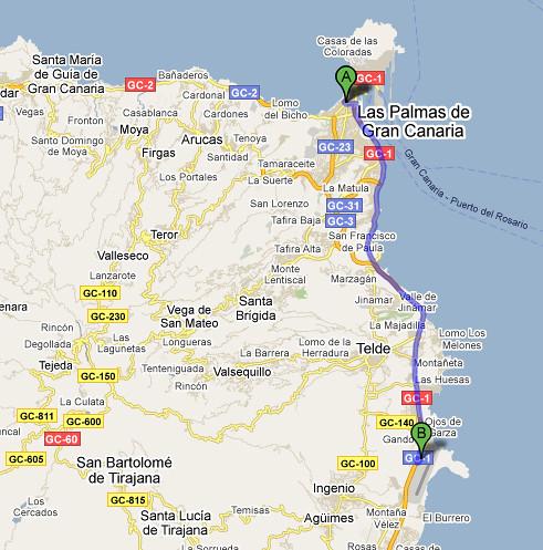 Mapa - Las Palmas - Aeroporto