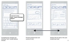Sample wireframe from Touchnote WP7