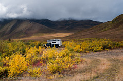 Home in the Uplands (Marc Shandro) Tags: autumn camp canada fall nature solitude scenic yukon northamerica remote wilderness rv tundra environments dempsterhighway outdoorrecreation remoteness truckcamper tombstoneterritorialpark blackstoneuplands