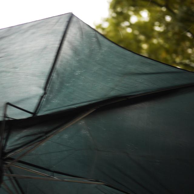 my umbrella just before it self destructed #walkingtoworktoday