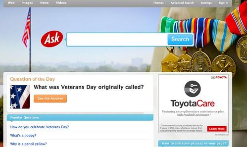 Ask Veteran's Day 2010