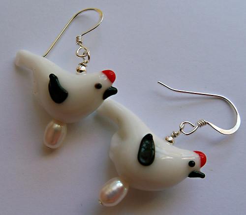 Chicken earrings!