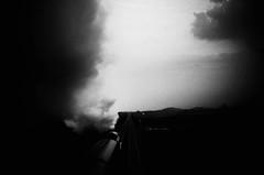 Shaft and arrow - evening express (newshot.) Tags: nikon d700 zeiss planart1450 zf2 general steam locomotive railway dusk gloom dark grain trail linlithgow scotland clouds gloomy speed symmetry asymmetry