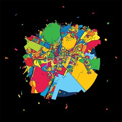 Podgorica, Montenegro, Colorful Artmap (Hebstreits) Tags: beautiful black capital center checkerd city color colored colorful destroy downtown geography map metropolitan montenegro multi nice painted place podgorica river roads round street streets vector ways