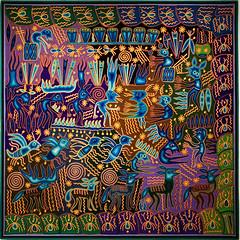 20170421_150955 (jaglazier) Tags: 19382009 1938ad2009ad 21stcentury 21stcenturyad 42117 adults animals april baskets bees benitez canada copyright2017jamesaglazier deer feathers horns huichol huicholesapeoplewalkingtowardsthelightwixarikaartbyjosebenitzsanchez insects josebenitezsanchez legends mammals men mexican mexico myths ontario rain religion rituals sanchez shaman shamanic shamans specialexhibits textilemuseumofcanada textiles toronto urbanism wax art cities crafts hallucinations maraakame modern museums pipes spiders spirals stars transformations tribal visions wands yarn
