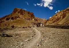 Path to Markha Monastery (Modesto Vega) Tags: markha markhavalley markhamonatery prayerflags maniwall mountain outdoor landscape india jammukashmir nikon nikond600 d600 fullframe wideangle