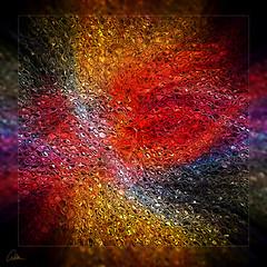 Cosmic - twirl oil glass (caralan393) Tags: square twirl glass