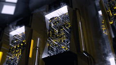 Juiced (amck3) Tags: blender render 3d surreal industrial power juiced smoke dark space yellow blue contrast design modeling