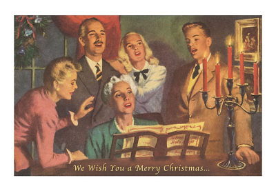 MC-00301-D~We-Wish-You-a-Merry-Christmas-Singing-Around-Piano-Posters