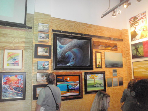 Surf Story Project - Opening Exhibit, showing some of Robbs art