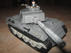 Panther now with 33% more stuff (Aaron Patrick Morse) Tags: lego ww2 panther panzer brickarms