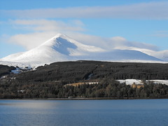Snow on Goatfell, Isle of Arran, Scotland (shotlandka) Tags: winter mountain snow castle bay scotland forestry hill finepix fujifilm brodick arran isleofarran goatfell      brodickcastle    platinumheartaward s1000fd absolutelystunningscapes 100commentgroup tripleniceshot