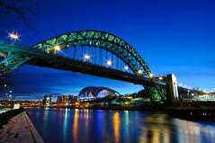 Tyne Bridge - Newcastle upon Tyne (5ERG10) Tags: uk longexposure morning bridge blue england sky water sergio clouds sunrise reflections river newcastle dawn lights nikon long exposure unitedkingdom steel tripod wideangle landmark sage tyne gateshead tynebridge bluehour quays tyneside newcastleupontyne inghilterra d300 sigma1020 nohdr amiti motthayandanderson 5erg10 sergioamiti