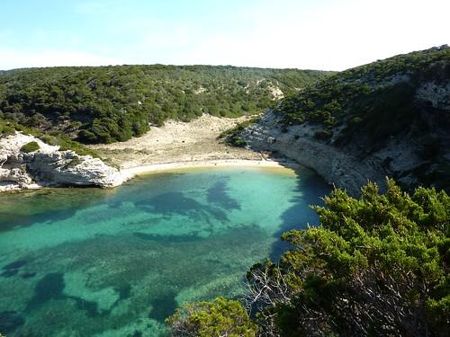 Sur la boucle littorale vers l'anse de Fazziu : l'anse de Fazziu et sa plage