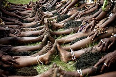 Happy Feet (Dave Schreier) Tags: new family friends feet guinea hands friendship touch tribal human together papua connection touching schreier dlsimagescom