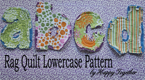 Rag quilt letters numbers tutorial download lowercase pattern for rag quilt letters now spiritdancerdesigns