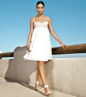 sWhite Ivory Summer Beach Wedding Dresses Fall 2010