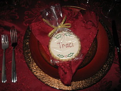 112409 008 (sugarcookiecreations) Tags: christmas cookies place name tag setting