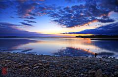 Rock, Water, Light (Kansas Poetry (Patrick)) Tags: sunset lawrence patrick nancy kansas loves 4ever lakewater clintonlake amazingphotos vividstriking
