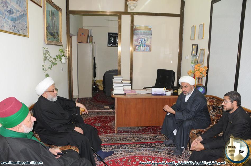 زيارة سماحة الشيخ عبدالمهدي الكربلائي لقسم الشؤون الفكرية والثقافية