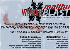 Malibu Winter Blast Boat Show Savings Postcard