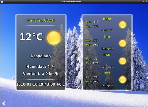 Enna mostrando el clima de Torreón