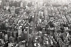 (kuragemoch) Tags: road city bw cars canon buildings 50mm fuji ae1 taiwan 1600 neopan taipei 12 fd 101