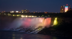 Bridal Veil Falls At Night (Keith Watson Photography) Tags: longexposure ontario blur water night niagarafalls waterfalls googleearth bridalveilfalls 93793499n00 summervacation2009