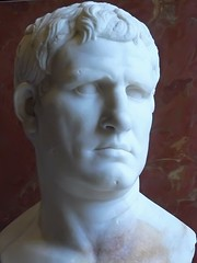 Portrait of Marcus  Vipsanius Agrippa  Roman 2524 BCE Marble (mharrsch) Tags: portrait sculpture roman louvre pantheon bust marble commander agrippa 1stcenturybce mharrsch snaptweet