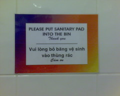Toilet information in Vietnamese