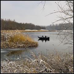 Geestmerambacht winter (Jacques:-)) Tags: winter lake holland landscape boot boat meer wandelen sneeuw olympus vissen 520 landschap phishing langedijk 1454 geestmerambacht jacquespannekeet nedeherlands