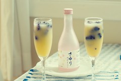 Sake Sunrise (bunbunlife) Tags: pink house home kitchen tangerine breakfast happy japanese frozen bottle berry day juice sunday marion cocktail sake brunch sakura nook sayuri zakka unfiltered