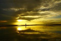 sunrise @ Manggar Beach (Sayf BSY) Tags: reflection beach sunrise canon indonesia landscape balikpapan manggar worldland
