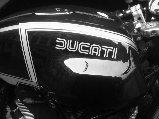 retro Ducati type while #walkingtoworktoday