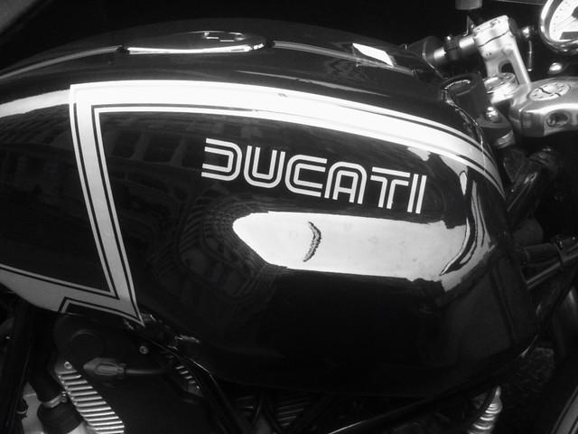 retro Ducati type while #walkingtoworktoday