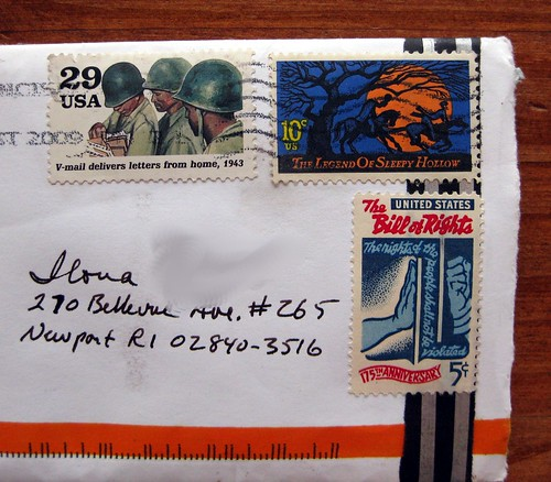 V-mail stamp and other vintages