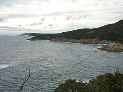 Depuis la tour de Sponsaglia : la côte Sud et la propriété de Marina Rasciata