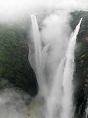 Jog Falls (Sangeeth VS) Tags: india nature river waterfall falls rocket karnataka roar jog raja rani jogfalls sharavathi shimoga visipix