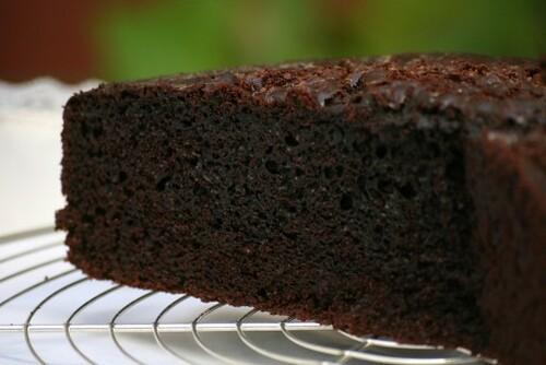 Torta de chocolate - corte