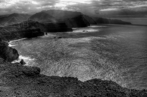 Madiera Northern Coast from Punta de Sao Lourenço. Costa norte de Madeira desde Punta de San Lorenzo.