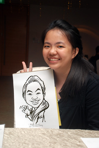 caricature live sketching for birthday party 220110 - 15